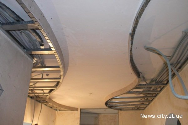 Двухуровневый простой потолок из гипсокартона своими руками